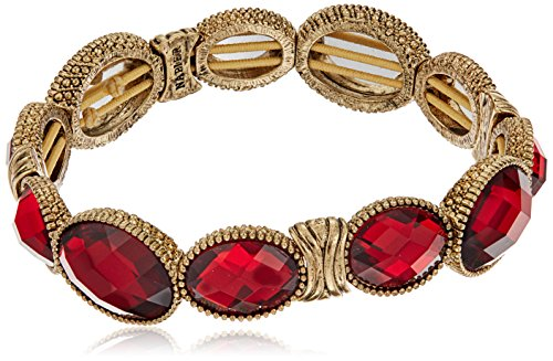 Napier Gold-Tone and Red Stretch - Napier Bracelet Gold Tone