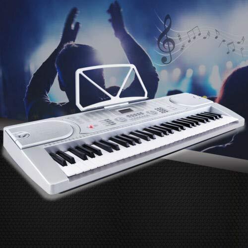 (61 Key Music Electronic LED Display Keyboard Digital Piano Organ with Microphone)