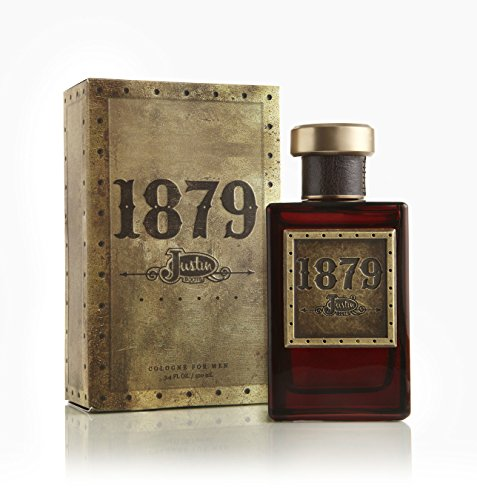 1879 Cologne - Official Justin Brands Natural and Authentic Fragrance Spray Perfume for Men - Woody and Crisp Masculine Fragrance - 3.4 oz 100 ml