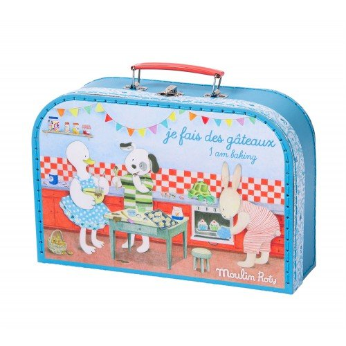 Moulin Roty Je Fais Des Gateaux ''I Am Baking Pastries!'' Child Sized Cooking Tools Toy Set in Carry Suitcase by Le Grande Famille (Image #4)