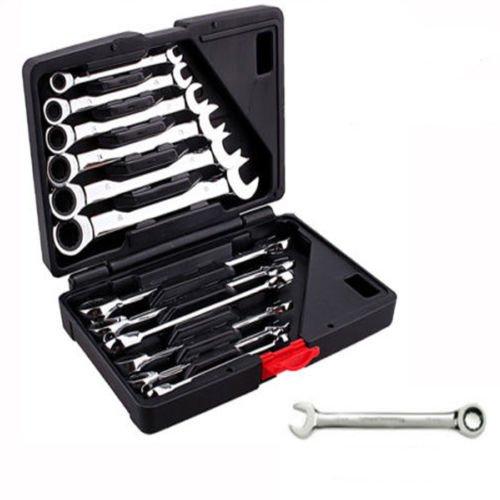 Yosoo 12 S/ätze Ratschenschl/üssel Maulschl/üssel Gabelschl/üssel Schraubenschl/üssel Handwerkzeuge Haushalt Reparatur Werkzeuge /& Super Angebot