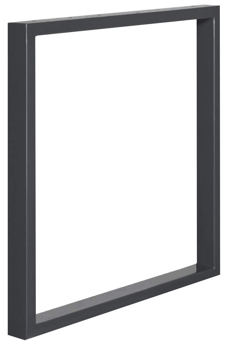 Acero pulido y lacado 1 Pieza HOLZBRINK Patas de Mesa perfiles de acero 60x30 mm forma de marco 40x43 cm HLT-01-D-BB-0000
