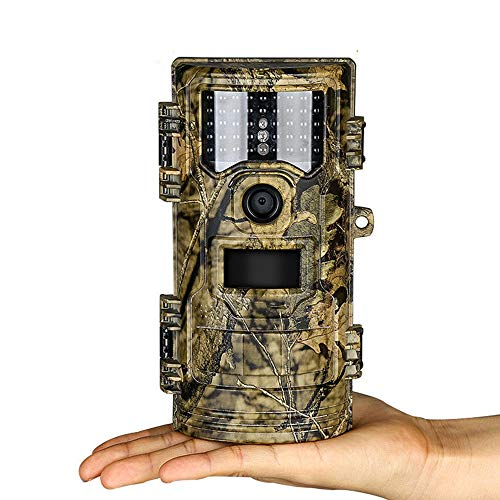 Four Wildlife Camera 20MP 1080P HD IP45 Waterproof with Night Vision Motion Display Hunting Trail Camera for Outdoor Garden Home Game Nature (Pal Ntsc Capture Security Card)