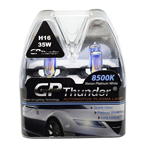 GP Thunder SGP85-H16 Platinum White 8500K 35W Xenon Quartz Ion Light Bulb, Pack of 2