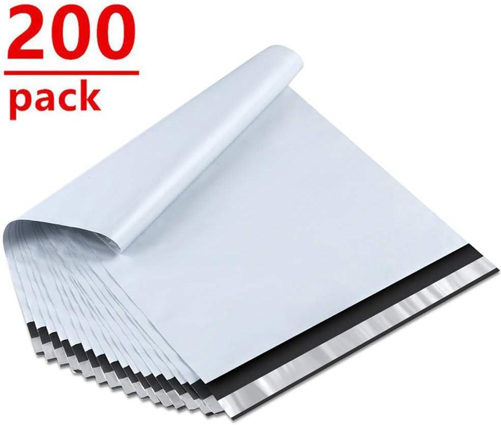 1000 Pack 10 x 13 Inch 3.0 Mil Poly Mailer Catalog Envelopes Self Adhesive Sealing Strip White