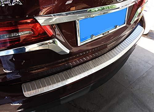 Chebay Rear Door Plate Bumper Cover Bar Sill Trim Protector Fits for Honda Acura MDX 2014-2017 by Chebay (Image #5)