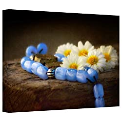 Art Wall Dragos Dumitrascu Blue Marbles Gallery Flat Wrapped Canvas Art, 32 By 48-inch