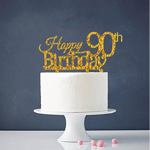 Hot Sale INNORU Happy 90th Birthday Cake Topper