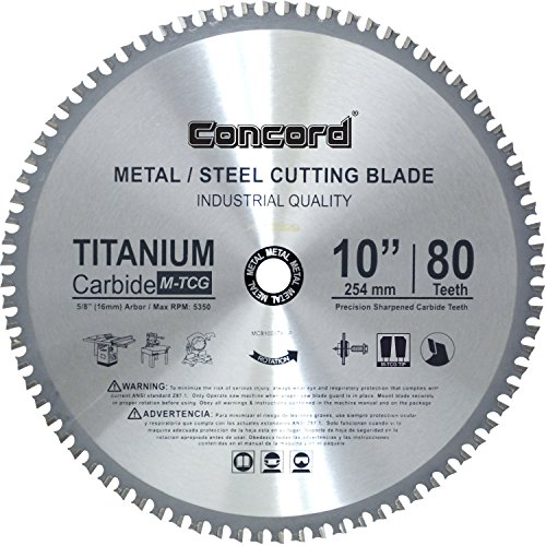 Concord Blades MCB1000T080HP 10-Inch 80 Teeth TCT Ferrous Metal Cutting Blade ()