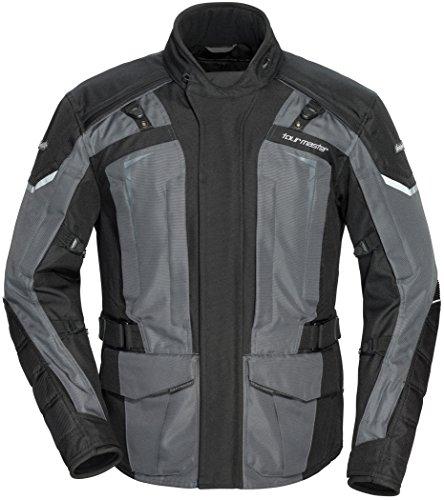 (TourMaster Men's Transition Series 5 Jacket (Black/Gun, X-Large))