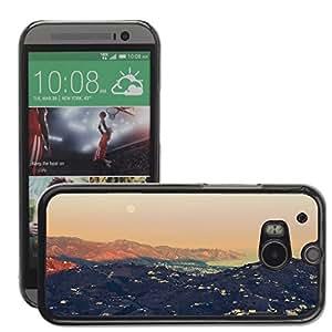 Cas Coq Case Cover // M00421503 Montañas Océano Naturaleza Paisaje // HTC One M8