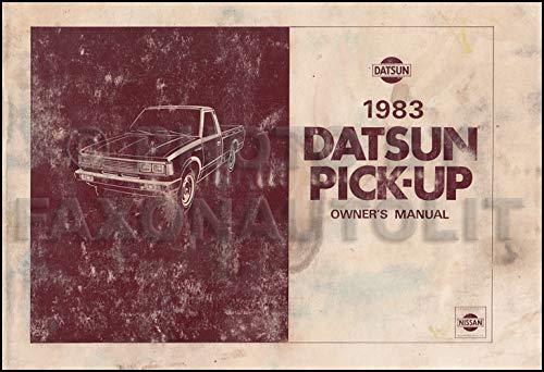 1983 Datsun Pickup Truck Owner's Manual Original 720 Model 2.2L engine