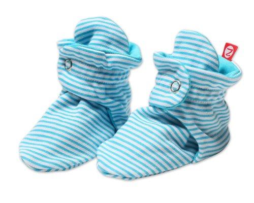 Zutano Unixex Baby Candy Stripe Bootie, Pool, 12 Months ()