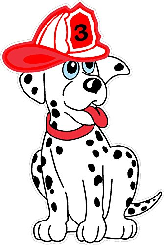 Firehouse Dalmation Dog WALL DECAL Kids Childrens Room Peel Stick Movable Cartoon Stickers Vinyl Wall Art