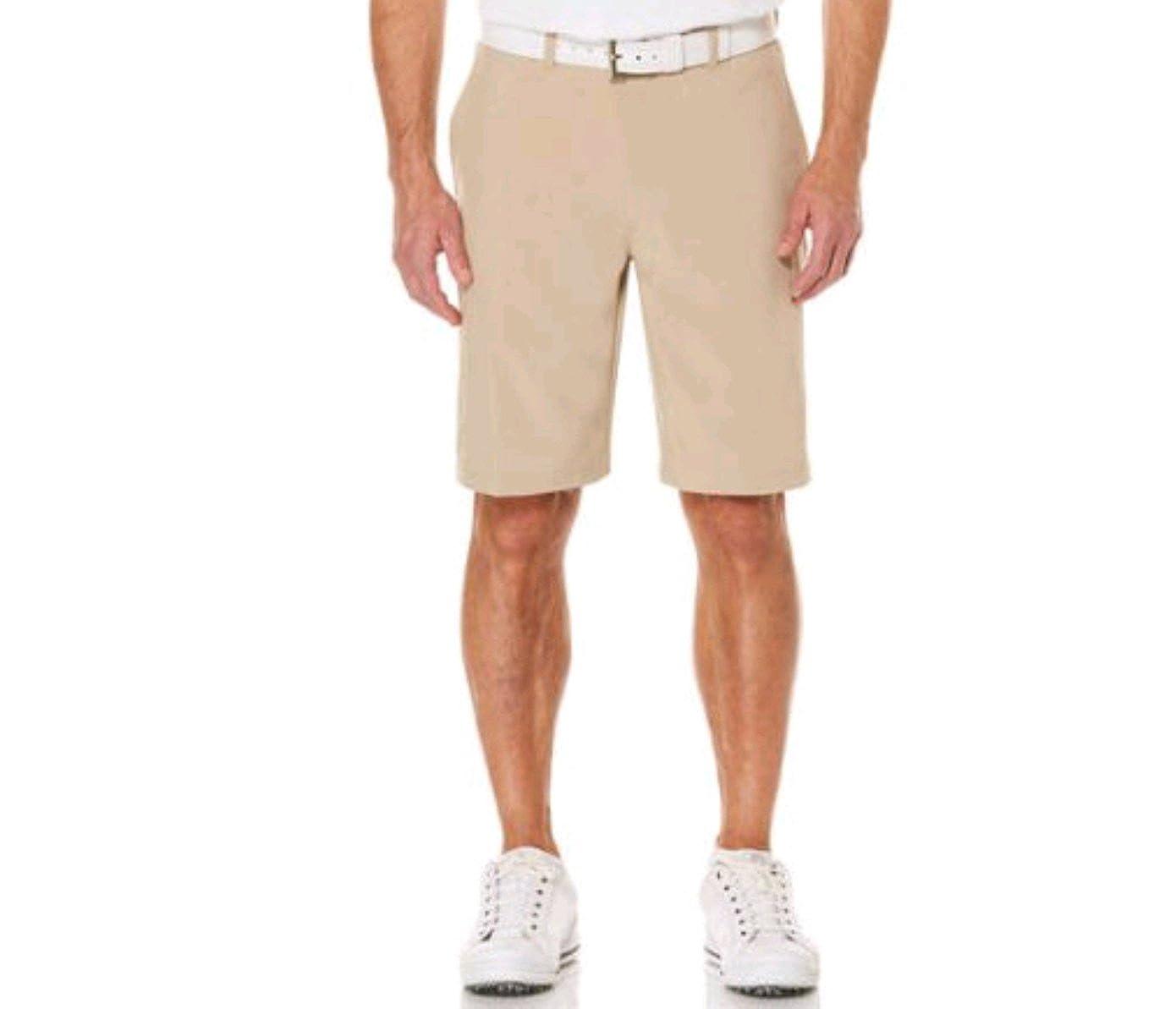 Ben Hogan Men's Performance Flat Front Active Flex Waistband Khaki Short