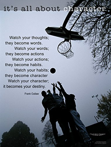 The Become Words. Watch Your Words, They Become Actions. Watch Your Character, It Becomes Your Destiny. Laminated Poster Featuring a Quote By Frankl Outlaw. (Thoughts Become Words)