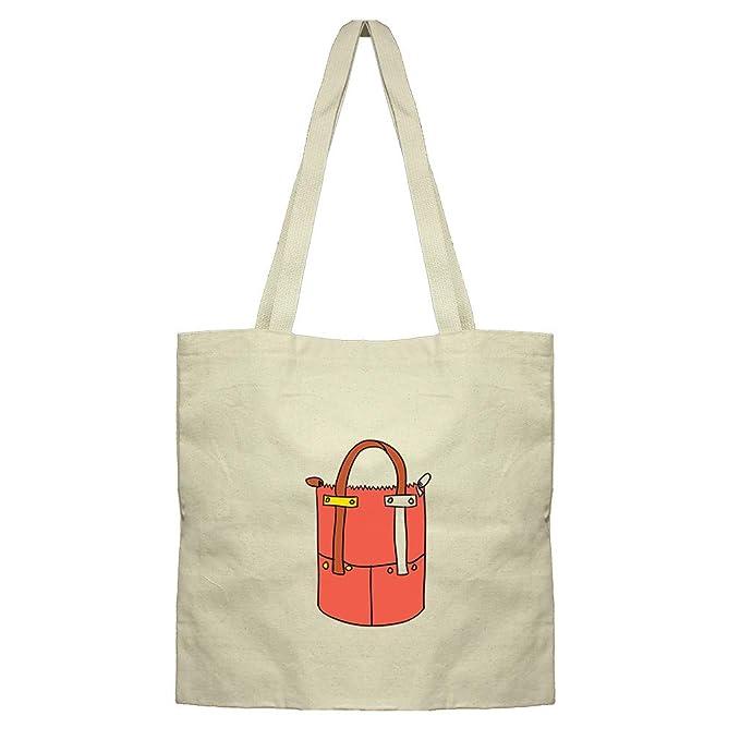 a308a39992c Amazon.com: Purse Big Red Cotton Canvas Flat Market Tote Bag: Clothing