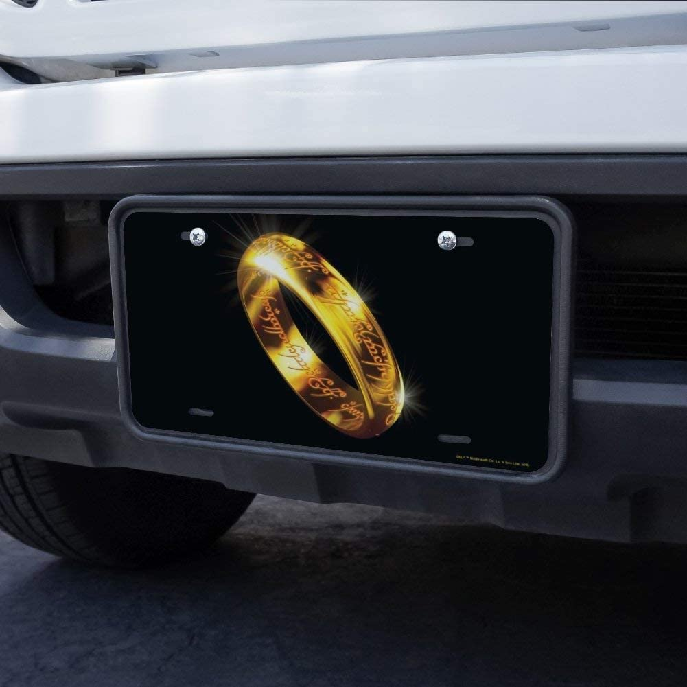 Graphics and More Lord of The Rings The One Ring Novelty Metal Vanity Tag License Plate