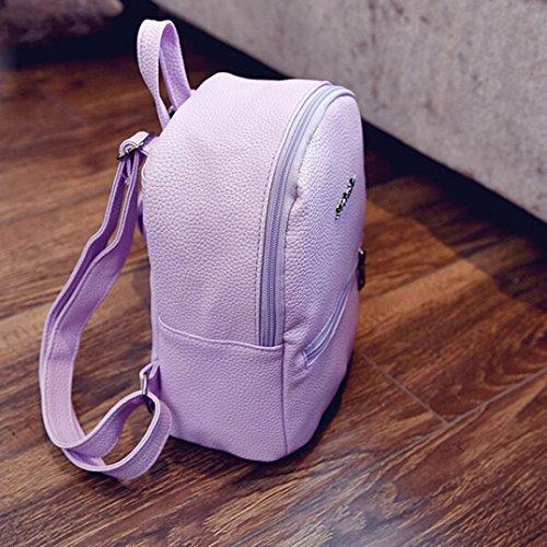 d'école épaule dos en Main sac femmes dos voyager Sac Sac de cuir zycShang Sac à à sac Violet à voyage qU0fZwz