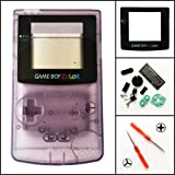Gametown® Full Housing Shell Pack with Screwdriver for Nintendo Game boy Color GBC Repair Part-Transpant