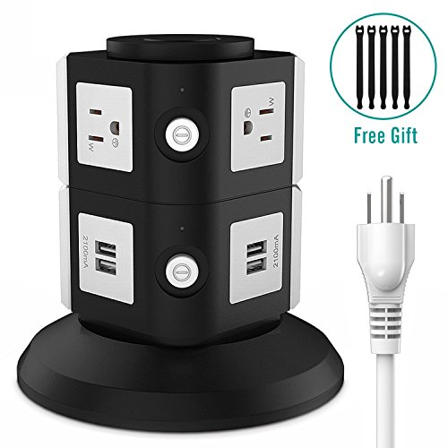Beautiful Surge Protector, FlePow 6 Outlet Power Strip Charging Station With 4 Port  USB Charger For IPhone, IPad And Others (Including 5 Pcs Reusable Fastening  Cable ...