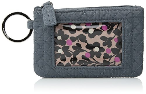 Vera Bradley Women's Iconic Zip Id Case Vv, Charcoal