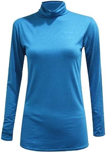 Comfiestyle - Camiseta de Manga Larga - Básico - Cuello de Polo ...