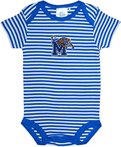 University of Memphis Tigers Baby Striped Bodysuit Royal/White ()
