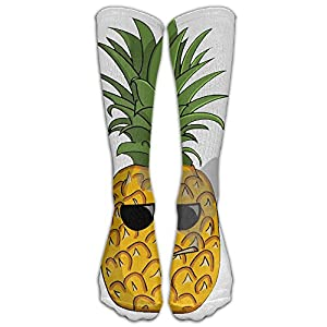 Pineapple Was Smoked With Sunglasses Unisex Sport Protective Elastic Stocking Crew Knee High Tube Socks