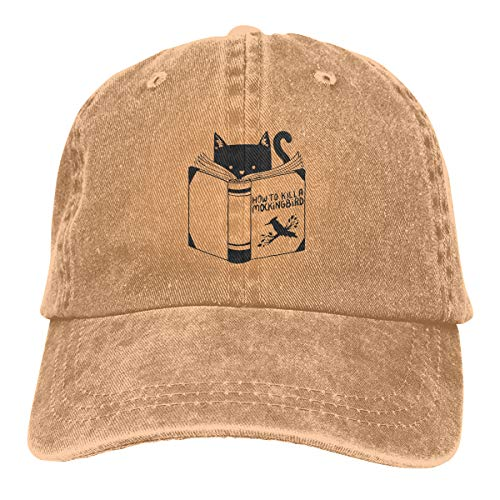 GoDiao How to Kill A Mockingbird Sports Adjustable Denim Cap Hat