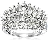 10k White Gold Diamond Fashion Ring (1 cttw, I-J Color, I2-I3 Clarity)