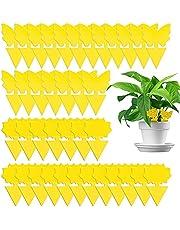 Fruit Vliegjesval Insectenvallen Planten Gele Sticker Vliegenvallen Vliegenvanger Gele Sticker Kleverige Fruitvlieg Zelfklevende Vliegenval Voor Muggen,Schimmels,Bladluizen,Wittevlieg,Totaal 40 Stuks