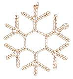 American Lighting LED-WW-HSM-SNOWF18 Snowflake Holiday Rope Light Motif, 18-Inch
