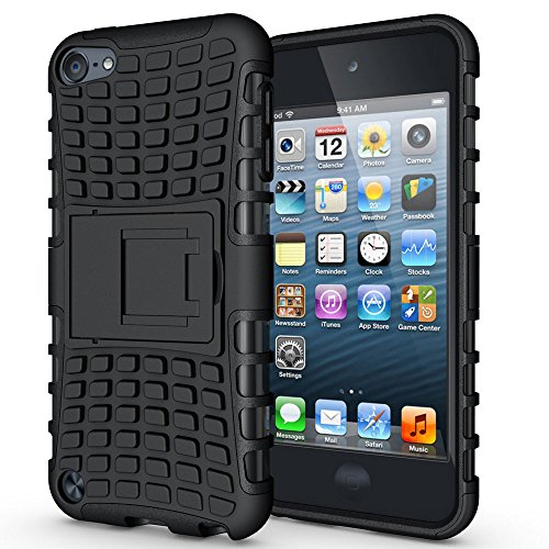 J.west iPod Touch 6th Generation Case,iPod Touch 5 Case, Heavy Duty Dual Layer Shockproof Resistance Hybrid Rugged Cover Case with Built-in Kickstand for Apple iPod Touch 5 6th Generation - Camo Lifeproof Case Ipod 4