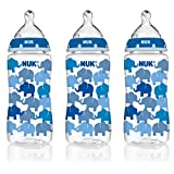 Amazon Price History for:NUK 14074 Elephants Baby Bottle with Perfect Fit Nipple, Medium Flow, 10 Ounces, 3 Pack