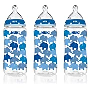 NUK Baby Bottle with Perfect Fit Medium-Flow Nipple, 10oz 3pk
