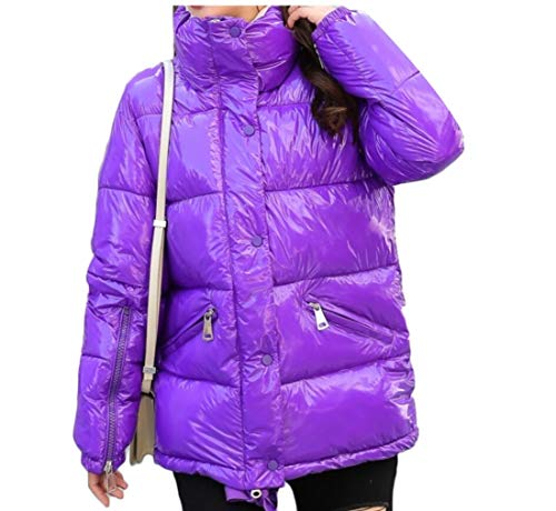 Purple Stand Womens Quilted EKU Warm Down Winter Collar Jacket Coat zwOIq