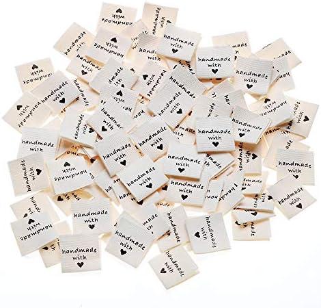 50 pcs vêtement en Cuir PU étiquettes Balises Handmade Vêtements Vêtement Sac Chaussures de couture