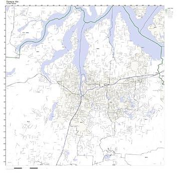 Amazon.com: Olympia, WA ZIP Code Map Laminated: Home & Kitchen