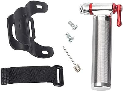 Mini Inflador de Aire CO2 / Bomba para Bicicleta y Balones, Aleación de Aluminio Compatible con Presta y Schrader: Amazon.es: Deportes y aire libre