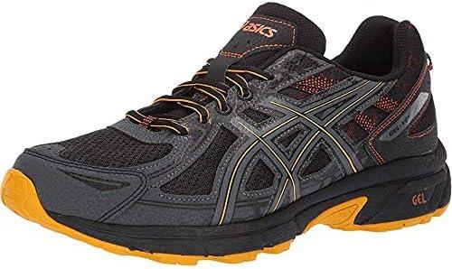 ASICS Men's Gel-Venture 6 MX Running Shoes, 11.5, Black/Sunflower