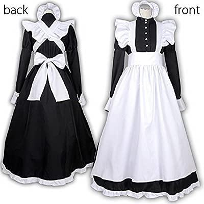 De estilo Ingles traje de criada de 4 piezas (una sola pieza ...