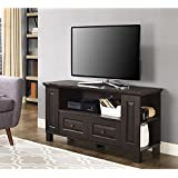 WE Furniture 44 Columbus TV Stand Console, Espresso