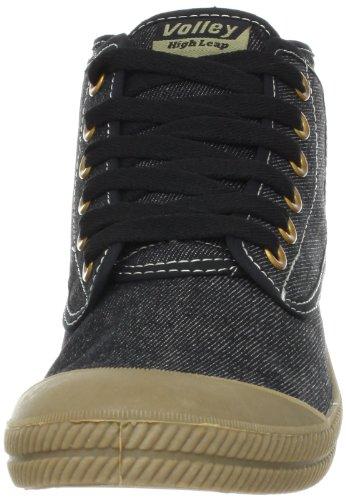 Volley Heren Hoge Sprong Canvas Mode Sneaker Zwart / Gom