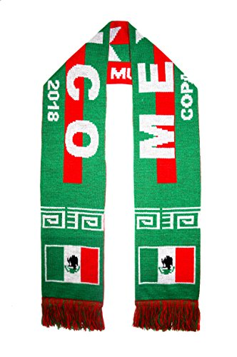 Mexico Scarf - WORLD CUP 2018 FANS FAVORITE SOCCER SCARVES (MEXICO GREEN-RED)