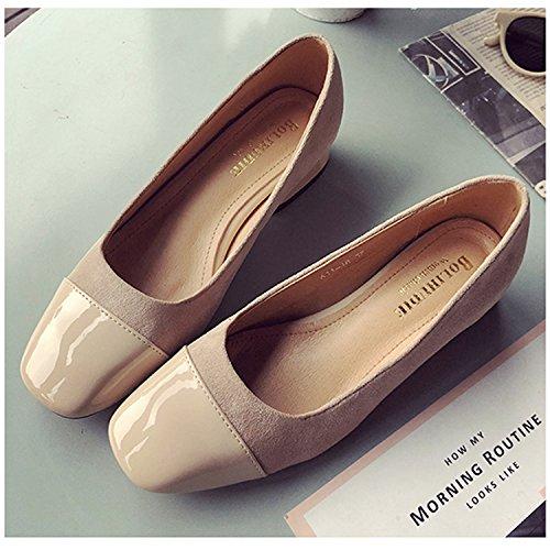 bajo de MOOKEY Zapatos albaricoque mujer College Zapatos con