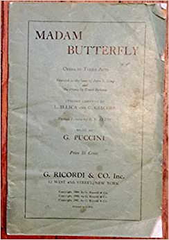 Madam Butterfly Opera in Three Acts