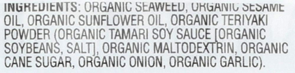 GimMe Health Foods Organic Roasted Seaweed Snack, Teriyaki, 0.17 ounce, (Pack of 48) by Gimme Health Foods (Image #5)