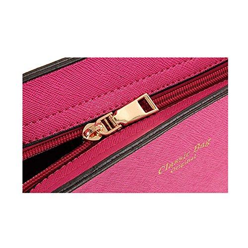 Recurvo Mujeres bolsa Xagoo de cuero del hombro del bolso de las señoras y conjunto del bolso (Estilo 1) Estilo 3
