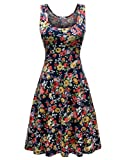 Kyпить Herou Women Summer Beach Casual Flared Floral Tank Dress Medium Flower-7 на Amazon.com